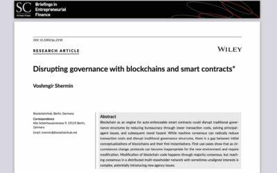 Disrupting Organisations with Blockchain