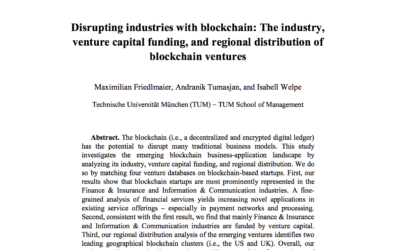 Disrupting Industries with Blockchain