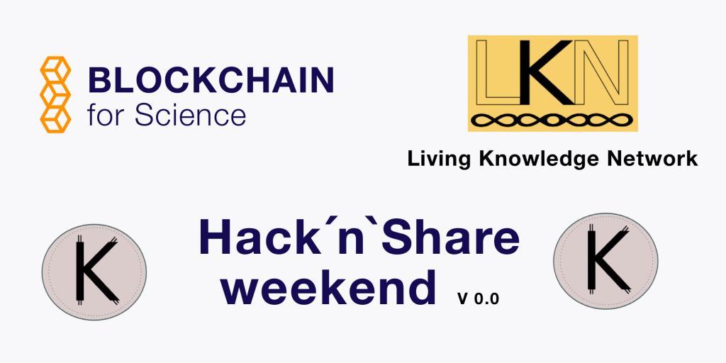 Blockchain for science hackathon banner